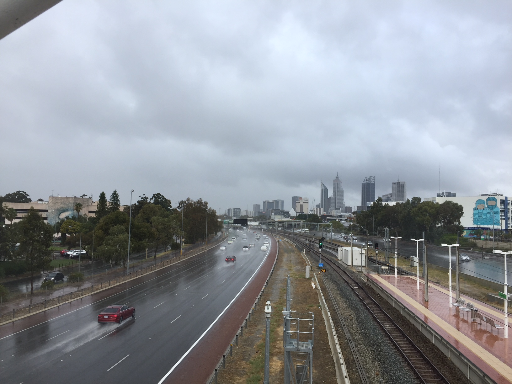 Rainfall in Perth on Wednesday 2 May 2018