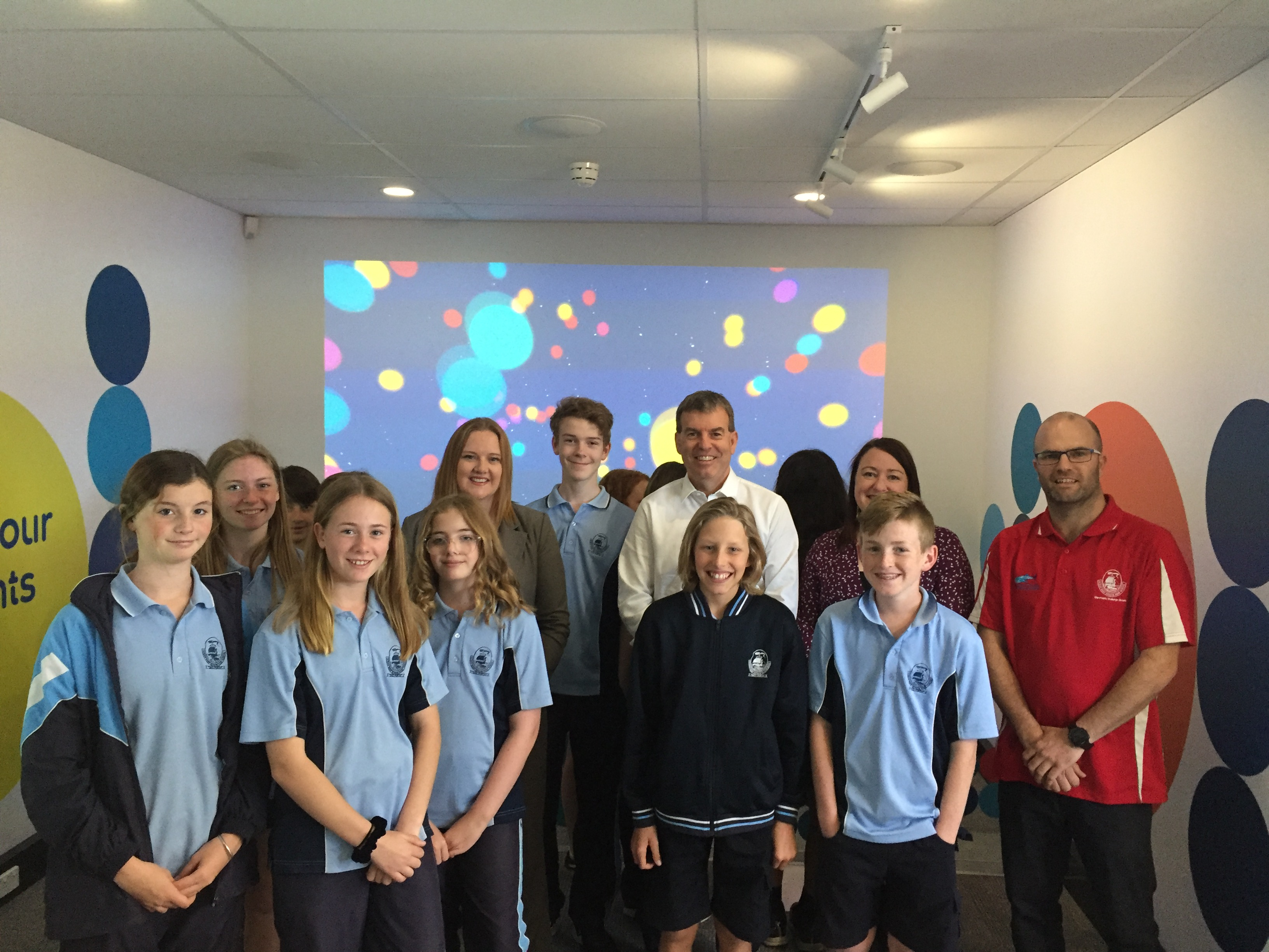 Minister for Water with students from Ocean Reef Senior High School