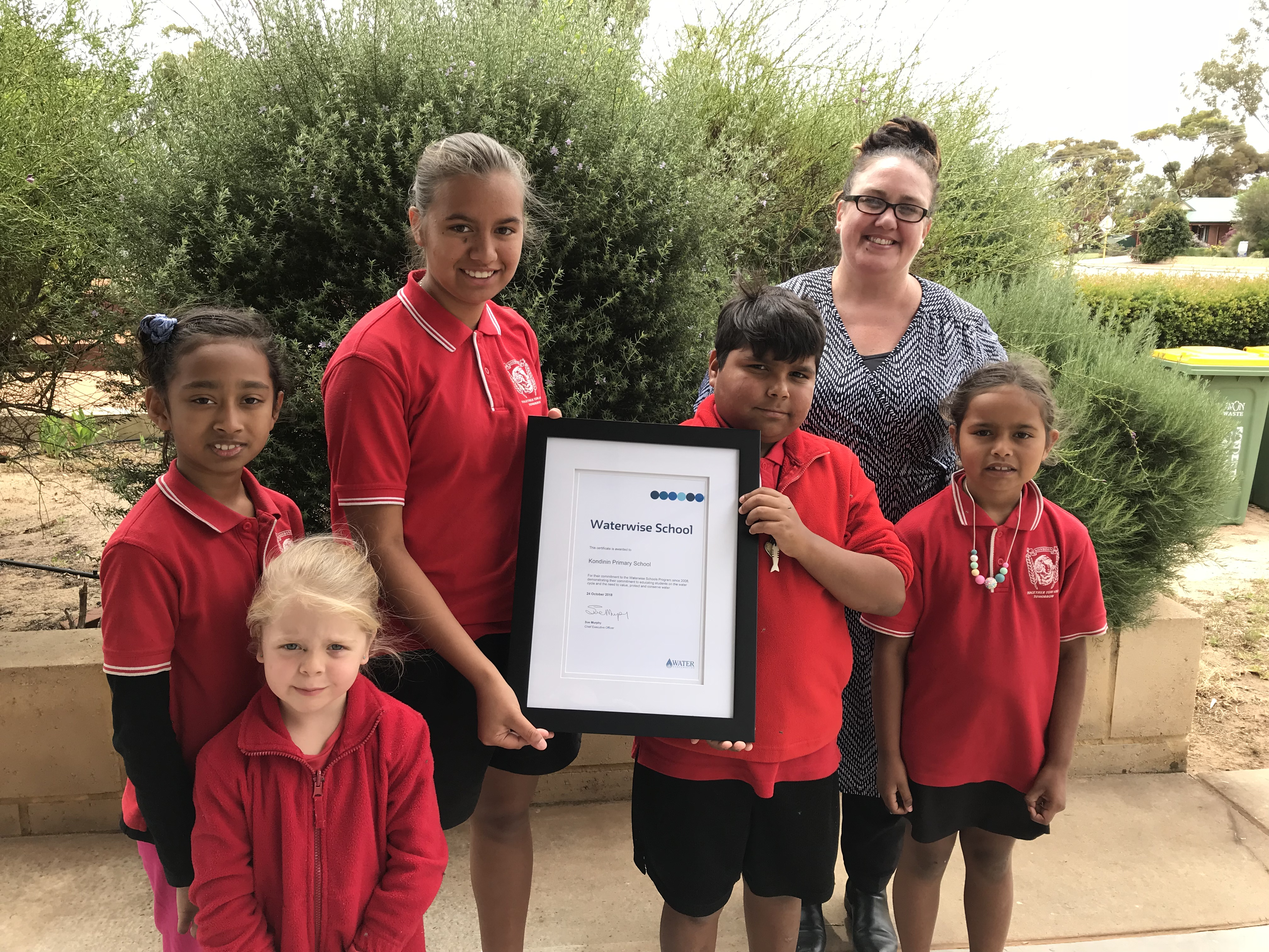Kondinin Primary School recognised for 10 years as a Waterwise School