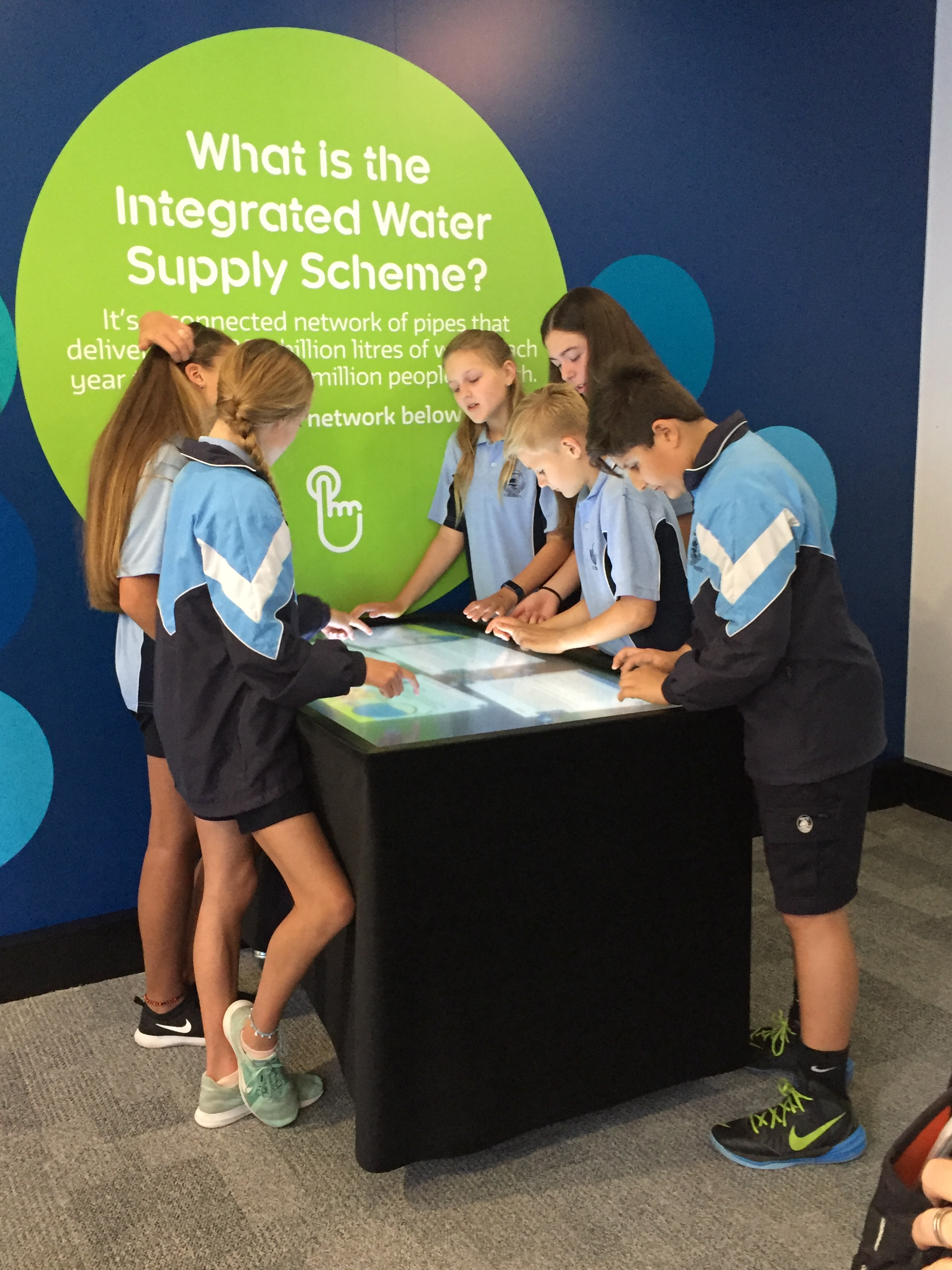 Atudent sfrom Ocean Reef Senior High School at the groundwater replenishment visitors centre