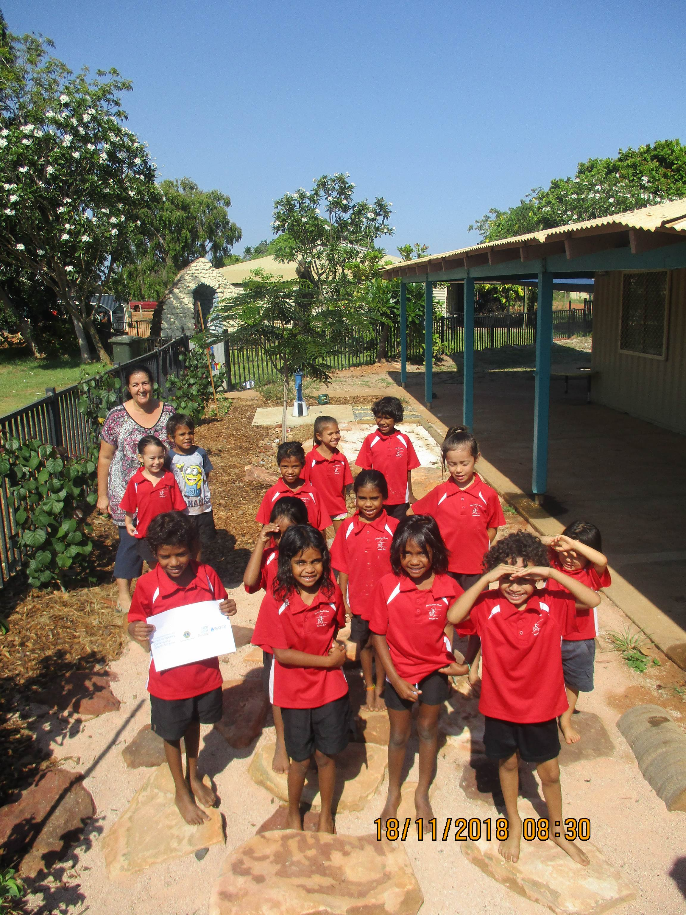 Students from Beagle Bay Primary School