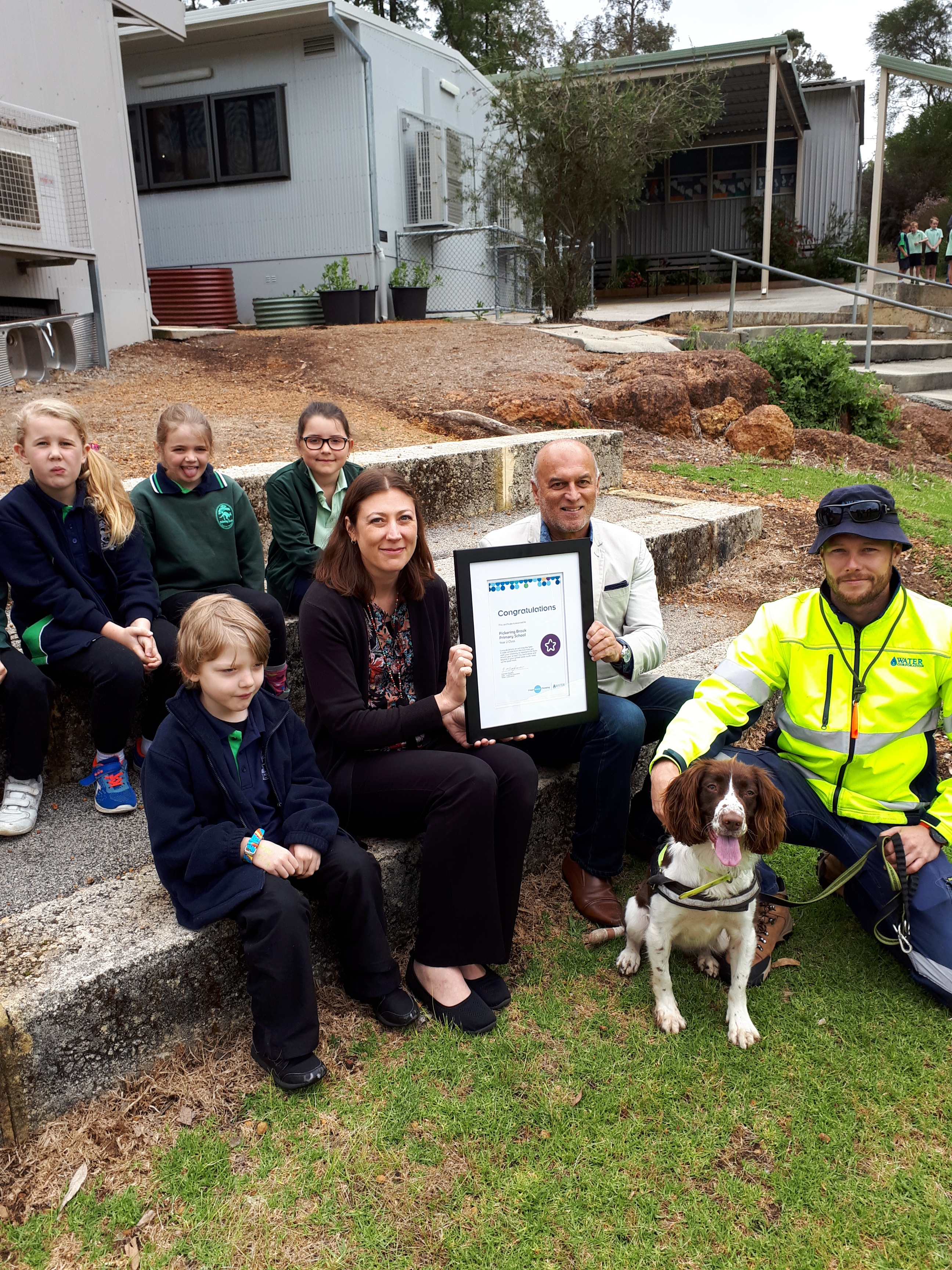 Pickering Brook Primary School received a visit from Kep the leak detection dog
