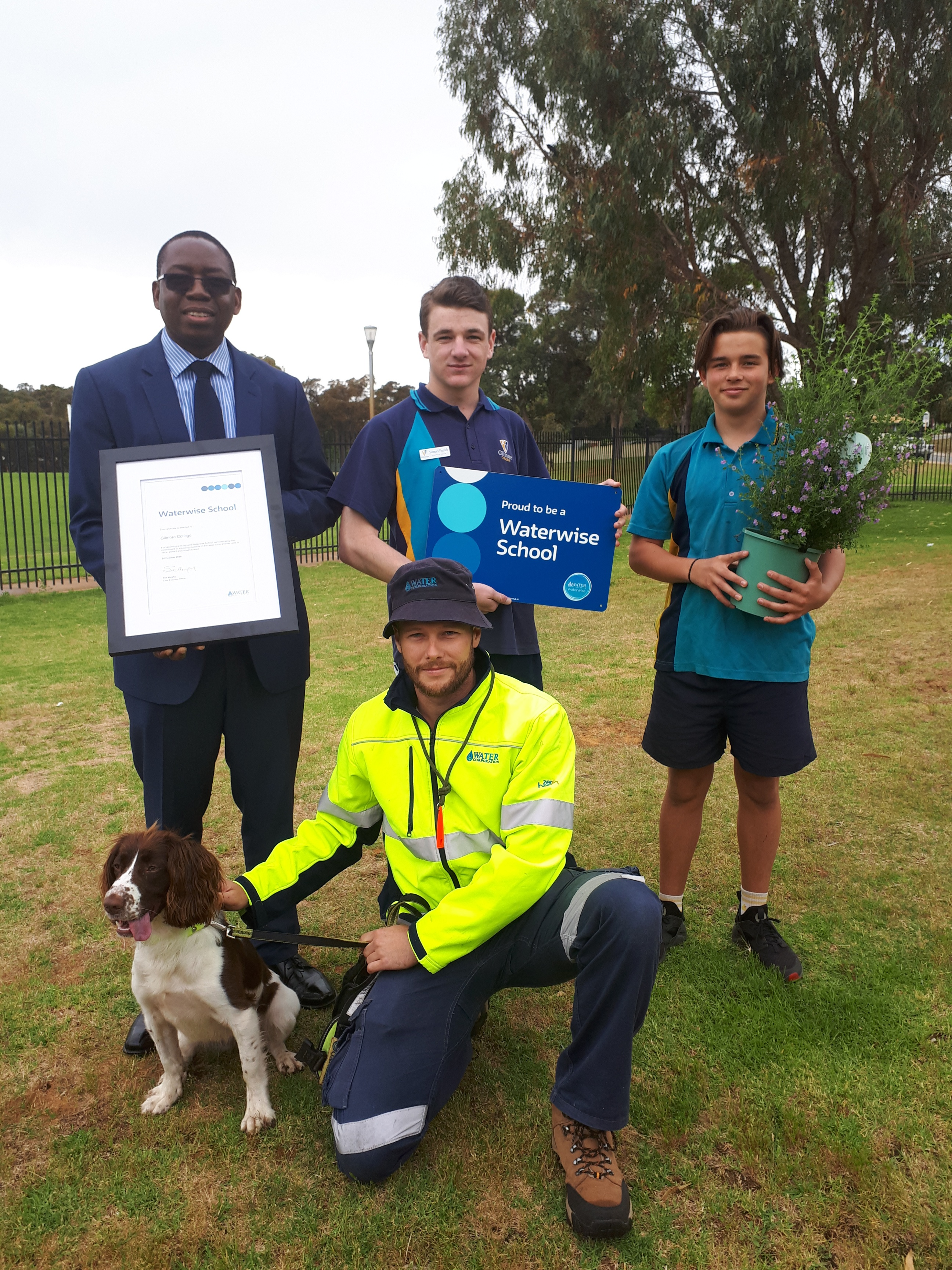 Gilmore College was recognised as a Waterwise School